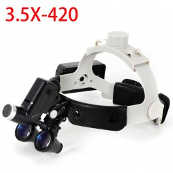 3.5X 5W Dental LED Surgical Headband Loupe with Light for Otolaryngology