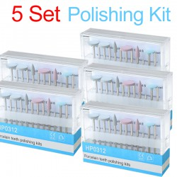 5 Set Dental Diamond Burs Porcelain Polishing Kit HP0312 for Low Speed Contra Angle