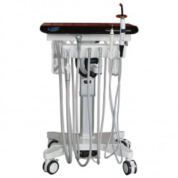 Greeloy GU-P 302S Adjustable Portable Mobile Dental Delivery Cart Unit Treatment System