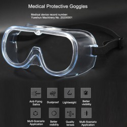 5Pcs Safety Protective Goggles Splash Safety with Clear Anti Fog Lenses Block Flying Saliva and Dust
