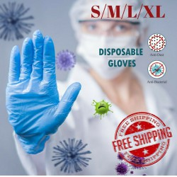 100Pcs Disposable Nitrile Gloves Waterproof Exam Gloves For Dental