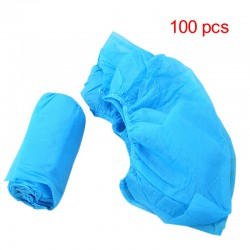 100Pcs Blue Non-woven Fabric Shoe Cover Fabric Disposable Overshoes