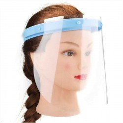 Adjustable Dental Full Face Shield Anti-fog with 10 Replaceable Plastic Film (1 Frame+10 Visors)
