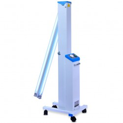 FY® 30DC Mobile UV+Ozone Disinfection Cart Ultraviolet Lamp UV Sterilizer Trolley Philips UV Lamps Tube