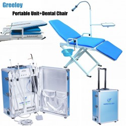 Greeloy GU-P206 Dental Portable Unit + Dental Chair GU-109(A) + Storage Bag Kit