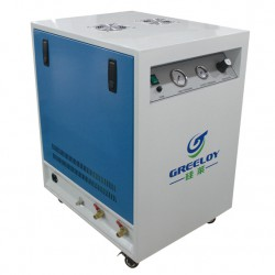 Greeloy® GA-61XY Oil Free Oilless Air Compressor With Drier and Silent Cabinet