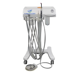 Greeloy®GU-P302 Mobile Self-contained Dental Delivery Units Built-in LED Curing Light Ultrasonic Scaler