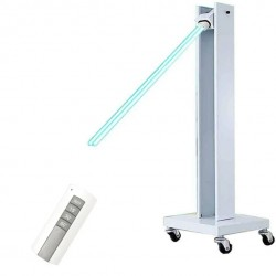 Mobile UV Sterilizer Trolley Cart Disinfection Lamp with Wheels for Schools Hospitals Factories