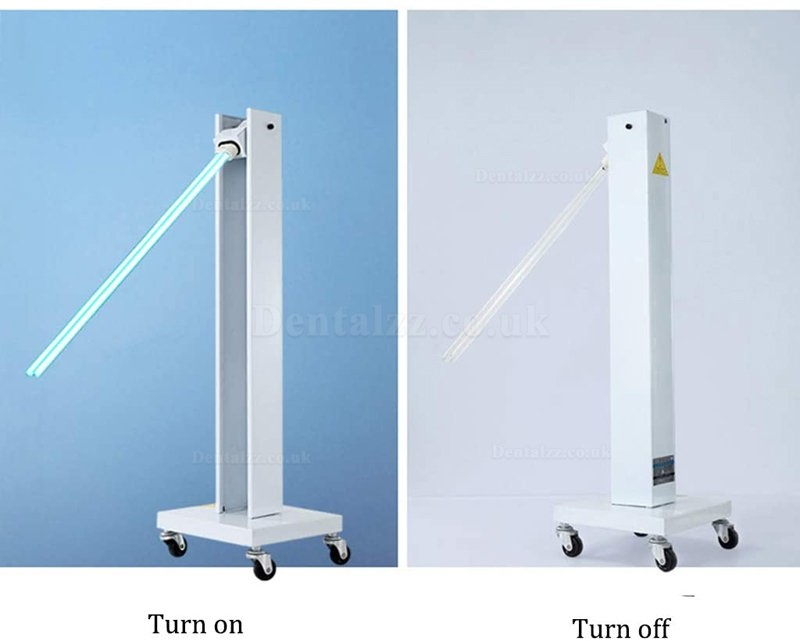 Mobile UV Sterilizer Disinfection Lamp with Wheels for Schools Hospitals Factories