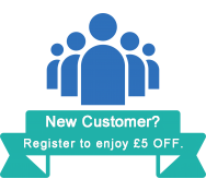 New Customer:Register to enjoy £5 OFF.