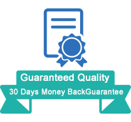 Guaranteed Quality:30 Days Money BackGuarantee